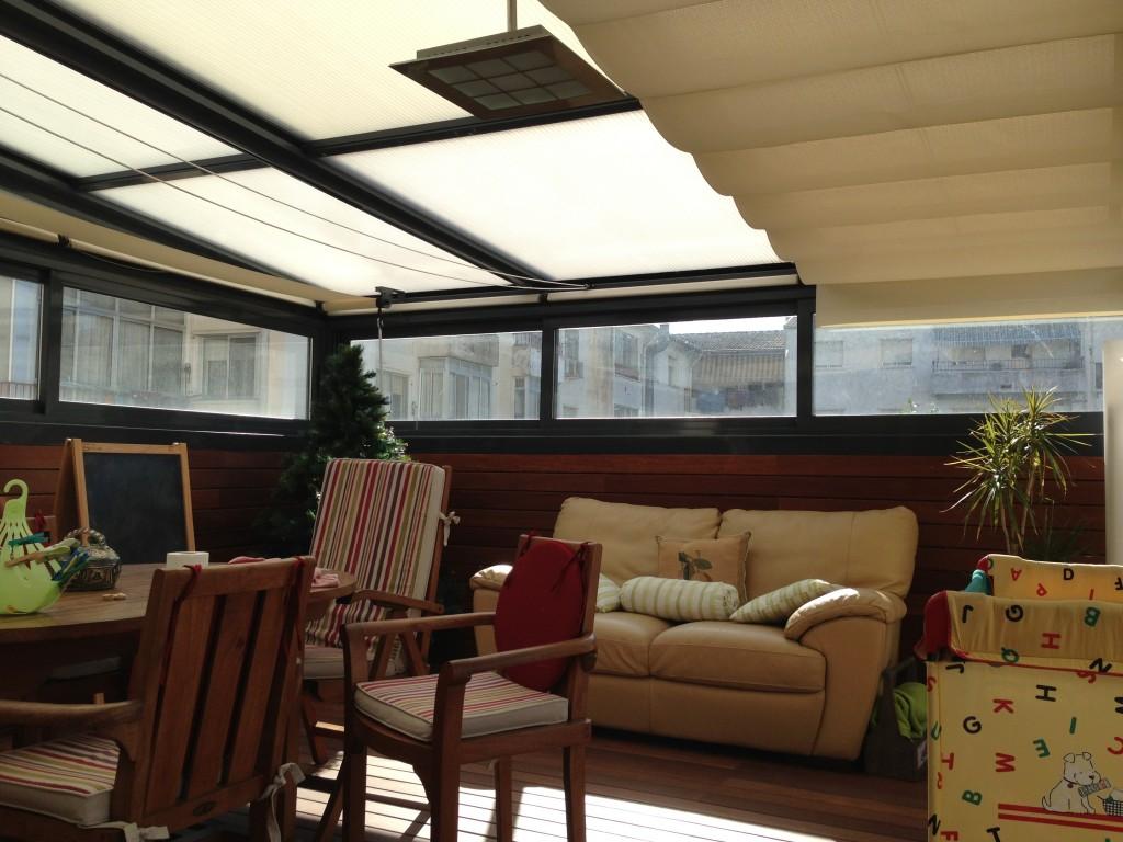 Cerramiento de terraza acuglass acuglass zaragoza - Estufa de terraza ...
